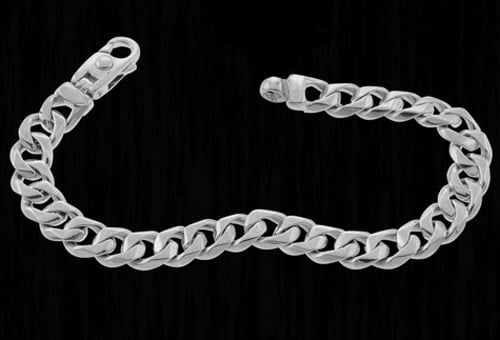 Platinum Traditional 9.5mm Curb Chain