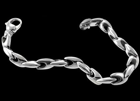 ITA3871 Platinum Unique Link Chain