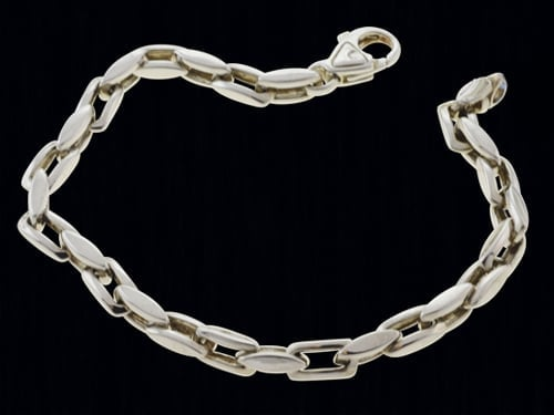 Platinum Modified Rectangle Link Chain
