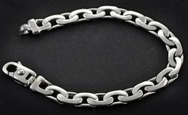 Platinum Bean Link Chain