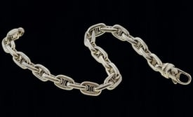 Platinum Rounded Mariner LInk Chain