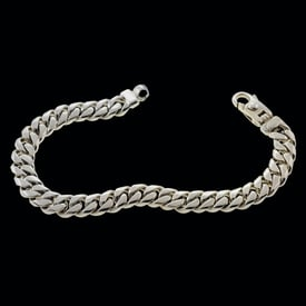 Platinum Beveled Curb Chain