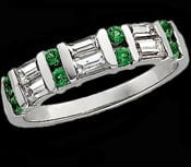 Emerald Diamond Anniversary Band
