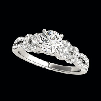 Platinum Diamond Delicate Semi Mount