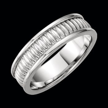 Platinum Designer 7mm Wedding Band