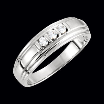 Men's Platinum 3 Diamond Band