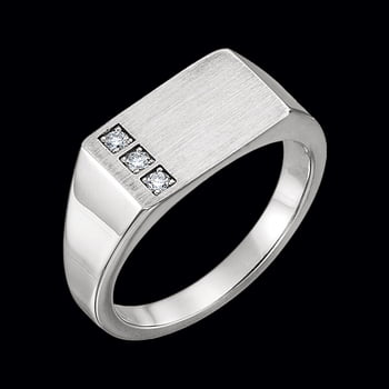 Platinum Diamond Signet Ring