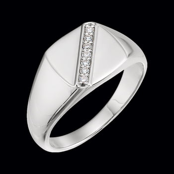 Men's Platinum Diamond Accented Ring