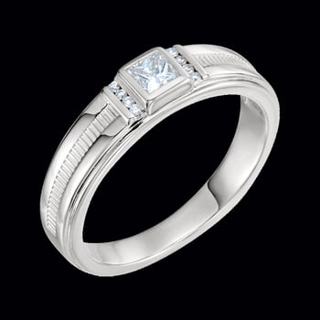 Platinum 1/3 ctw Diamond Men's Ring