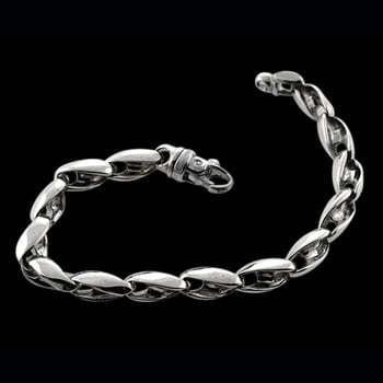 Platinum Twisted Nautical Bracelet