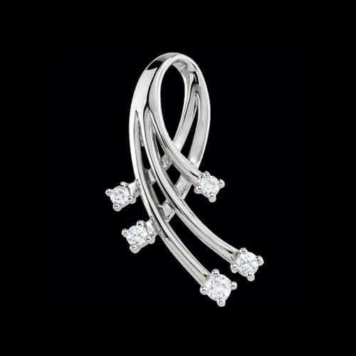 Platinum Freeform Diamond Pendant