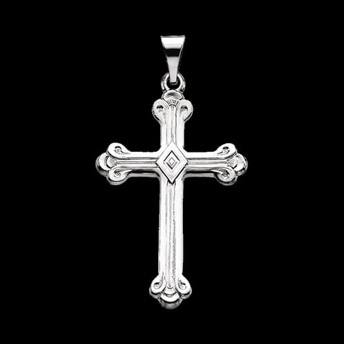 Trefoil Platinum Cross