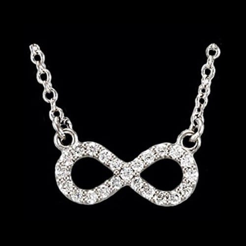 Platinum Diamond Infinity Necklace
