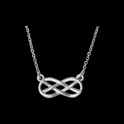 Platinum Infinity Style Necklace