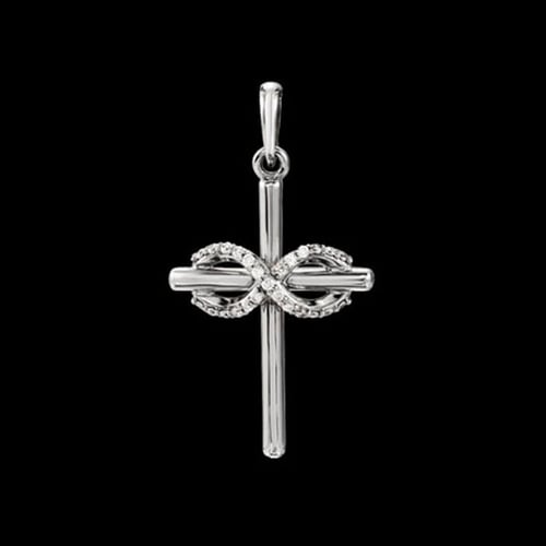 Platinum Infinity Diamond Cross