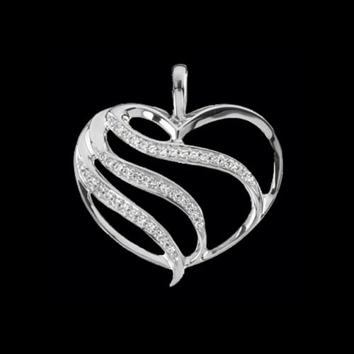 Platinum Fancy Diamond Heart