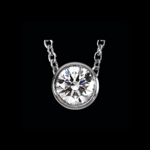 Platinum Diamond Solitaire Necklace