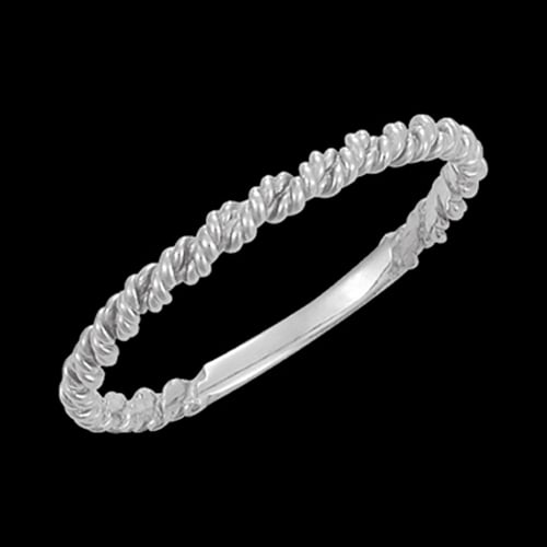 Platinum Twisted Rope Ring