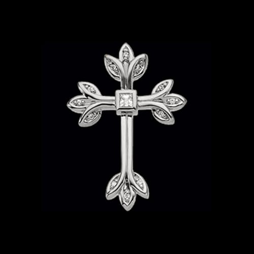 Platinum Diamond Tre Cross Pendant
