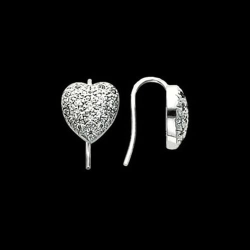 Platinum Heart Design Earrings