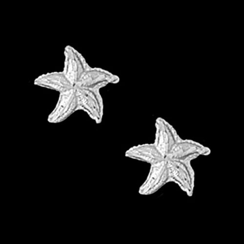 Platinum Summer Starfish Earrings