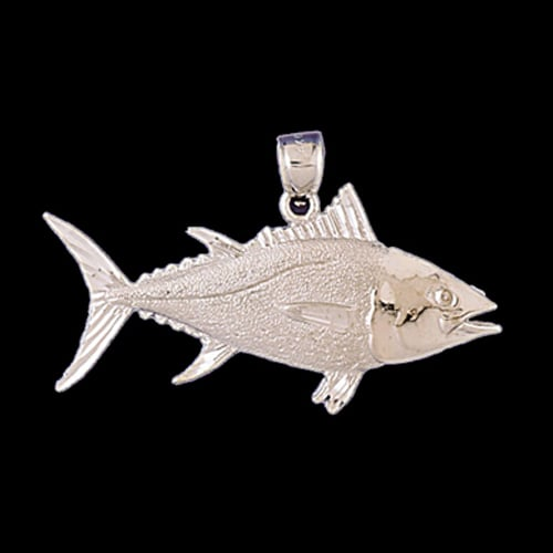Platinum Tuna Fish Pendant
