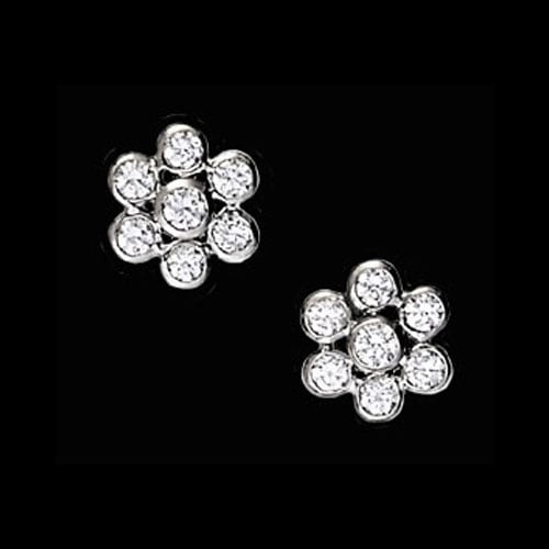 Platinum Diamond Bubble Earrings