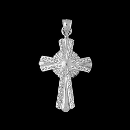 Platinum Ornate Cross Pendant