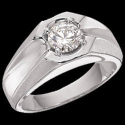 Gent''s Solitaire Ring