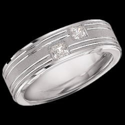 Platinum Diamond Gent''s Band