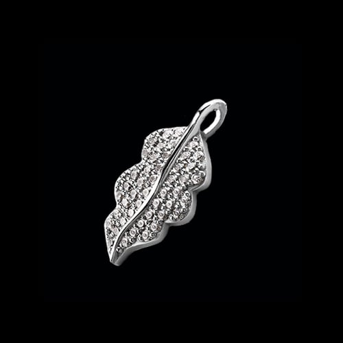 Platinum Diamond Leaf Pendant