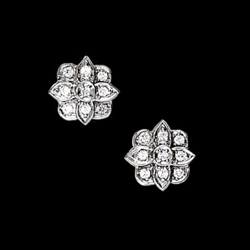 Fancy Platinum Diamond Earrings