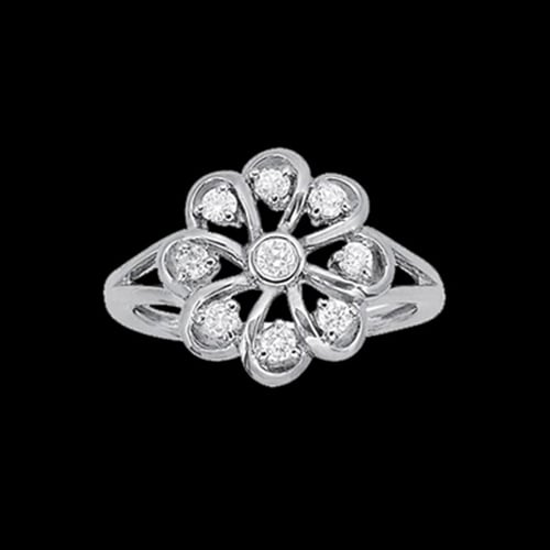 Platinum Diamond Carousel Ring
