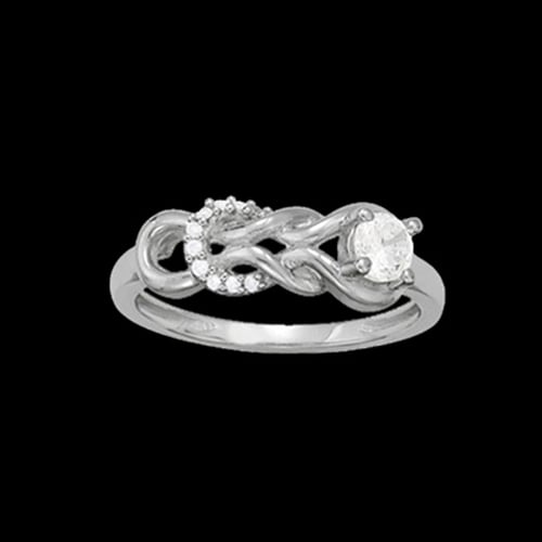 Platinum Fashion Love Knot Ring