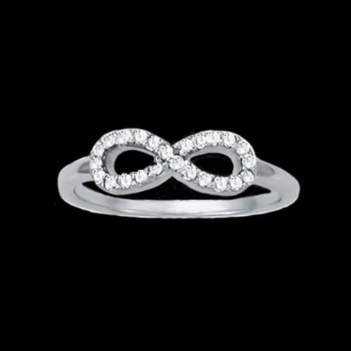 Platinum Diamond Infinity Ring