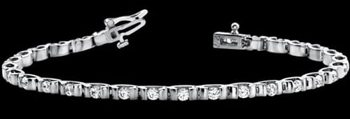Platinum Tension Set Diamond Bracelet