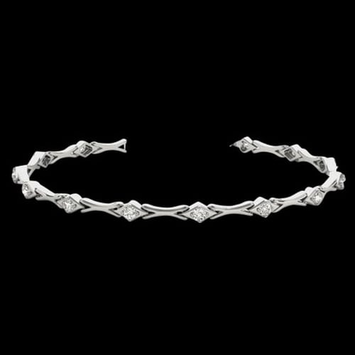 "Platinum Long ""XO"" Diamond Bracelet"