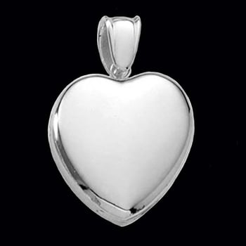 Platinum Heart Locket