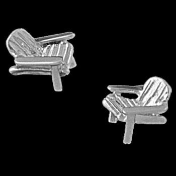 Platinum Lawn Chair Earrings
