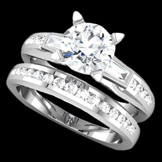 Engagement Platinum Ring
