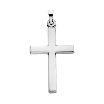 Platinum Plain Cross Pendant