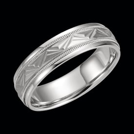 Fancy Platinum 6mm Wedding Band