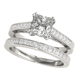 Platinum Alluring Princess Semi Mount Ring