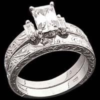 Engraved Platinum Wedding Ring