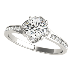 Platinum Enchanting Diamond Engagement Ring