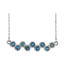Platinum Gemstone Bubbles Necklace