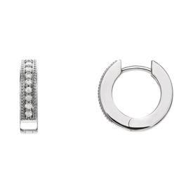 Platinum 1 6ctw Diamond Hoop Earrings