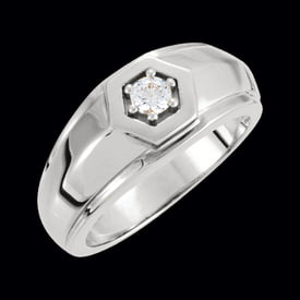 Men's Platinum Diamond Solitaire Ring