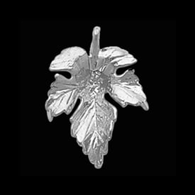 Platinum Fall Leaf Pendant