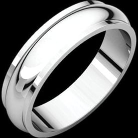 Half Round Edge 6mm Wedding Band